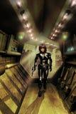 Spacecraft corridors Stock Photos
