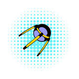 Spacecraft icon, comics style Stock Photography