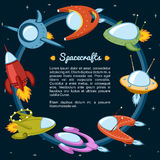 Spacecraft and rockets. Flying the stars Royalty Free Stock Image