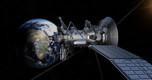 Spacecraft, Satellite, Atmosphere, Space Station Royalty Free Stock Photography