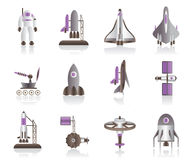 Spacecraft and space shuttles Stock Photos