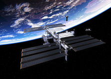 Spacecrafts And International Space Station Stock Photo