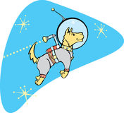 SpaceDog mit Jetpack Lizenzfreies Stockfoto