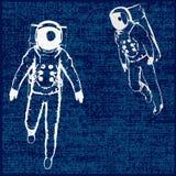 spaceman ανασκόπησης Στοκ Φωτογραφίες