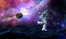 Spaceman κλέβει τον πλανήτη Μικτά μέσα απεικόνιση αποθεμάτων