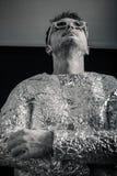 Spaceman που ανατρέχει Στοκ Φωτογραφίες