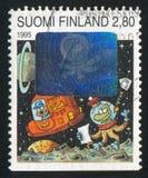 Spaceman που παίρνει την επιστολή Στοκ φωτογραφία με δικαίωμα ελεύθερης χρήσης