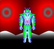 spaceman ρομπότ Στοκ εικόνες με δικαίωμα ελεύθερης χρήσης