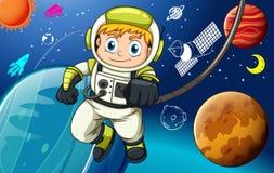 spaceman ilustração stock
