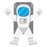 Spaceman astronaut in outer space Royalty Free Stock Images