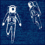 Spaceman Background royalty free illustration