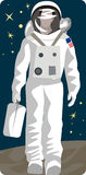 Spaceman illustration series Stock Photo