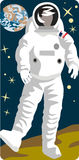 Spaceman illustration series Stock Image