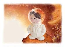 Spaceman illustrator Stock Image
