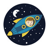 Spaceman Kid Royalty Free Stock Photo