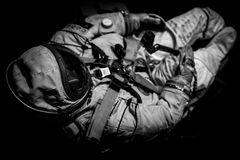Spaceman suit black and white image. Spaceman suit - black and white image Stock Photo