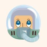 Spaceman theme elements Stock Image