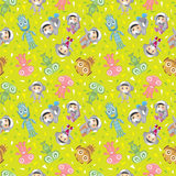 Spaceman and ufo seamless pattern Stock Images