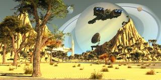 Spaceport de titan illustration de vecteur