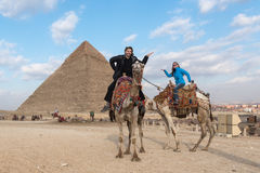 Spacer jak egipcjanin Obrazy Royalty Free