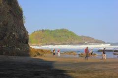 spacer na plaży zdjęcia stock