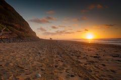 spacer na plaży Obraz Royalty Free