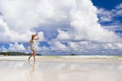 spacer na plaży Obraz Stock