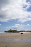 spacer na plaży Fotografia Stock