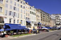 Spacer na starym porcie Marseille Obrazy Royalty Free