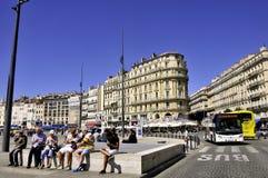Spacer na starym porcie Marseille Fotografia Stock