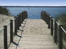 spacer nad morze Obrazy Stock