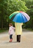 spacer parasolkę Obrazy Royalty Free