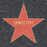 Spacer sławy gwiazda na granitowej podłoga również zwrócić corel ilustracji wektora zdjęcie stock