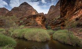 Spacer w Catherdral wąwóz, Purnululu, park narodowy Fotografia Stock