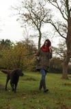 Spacer w parku w jesieni Fotografia Stock