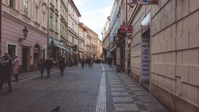Spacer w Praga zdjęcie stock