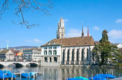 Spacer w Zurich fotografia royalty free