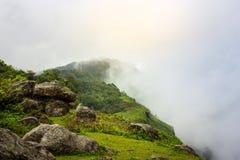 Spaceru sposób w zielonym lasu wierzchołku halny wycieczkuje ślad w thaila Obraz Royalty Free
