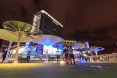 Spaceru sposobu nowy projekt przed MBK centrum zakupy centrum handlowym w Bangkok Zdjęcie Royalty Free