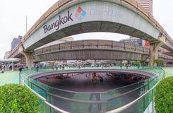 Spaceru sposobu nowy projekt przed MBK centrum zakupy centrum handlowym w Bangkok Obrazy Stock