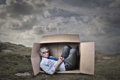 Spaces of boxes Stock Images