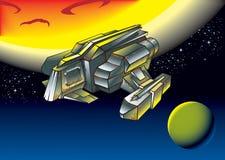 spacescape челнока летания Стоковые Фотографии RF