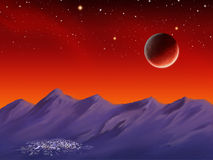 Spacescape stock illustration