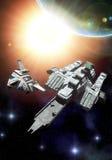 spaceship μεταφορέων Στοκ Εικόνες