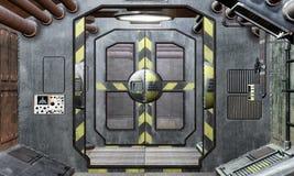 spaceship πορτών διαδρόμων ανασκόπησης Στοκ Φωτογραφίες