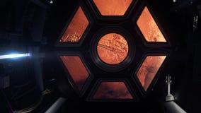 Spaceship στον Άρη διανυσματική απεικόνιση