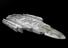 Spaceship. A spaceship isolated over black background in 3d Royalty Free Stock Photos
