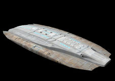 Spaceship. A spaceship isolated over black background in 3d Royalty Free Stock Images