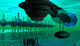 spaceship βασικής επιστροφής Στοκ Εικόνα