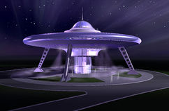 spaceship 3d royaltyfri illustrationer